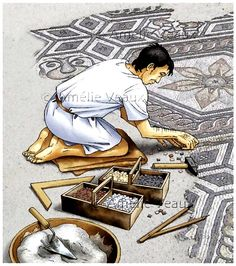 Artist carving a floor Ancient Rome, Ancient Greece, Ancient History, Ancient Aliens, Roman History, Art History, European History, American History, Gott Tattoos