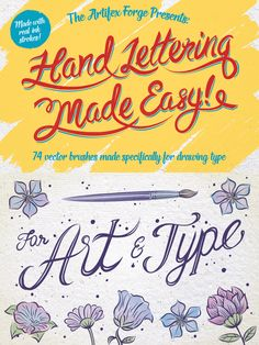 If you've always found the idea of creating hand drawn typography a little daunting then this brush set is for you!  Drawing letters by hand is indeed hard and that's why I created these amazing brushes, to make the process much easier. They are the next best thing to having you own in house typographic artist! They are perfect for drawing too.   Check it out - http://crtv.mk/i0IXn