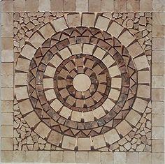 Stone Mosaic, Mosaic Art, Mosaic Glass, Landscape Lighting Design, Brick Path, Outdoor Flooring, Style Tile, Travertine, Indoor