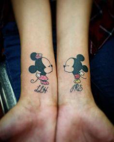 Tatouage Disney Mickey et Minnie