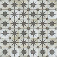 Merola Tile Kings Star Nero 17-5/8 in. x 17-5/8 in. Ceramic Floor and Wall Tile (11.1 sq. ft. / case) FPESTRN at The Home Depot - Mobile