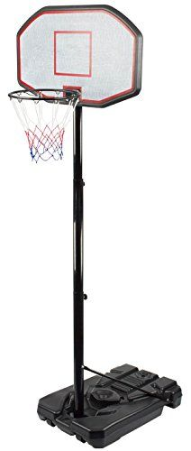 Sports God Height Adjustable Portable Basketball System with 44 Inch Backboard, 6.5 ft – 10 ft