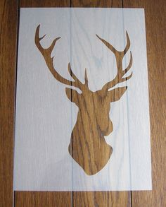 Stags Head mask/stencil with cut-out positive. Genuine 125 micron Mylar Sheet A machine cut, stencil/mask which can be used in a variety of ways to create unique backgrounds and decorations for your craft, mixed media, DIY and home décor projects. Texture paste, inks, paints, pastels are just a few of the mediums you can use while spraying, air brushing, spongeing and mono printing are techniques you could try to enhance your projects over and over again. This flexible plastic can easily…