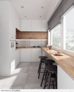 5 Inventive Hacks: Minimalist Kitchen Bar Pendants colorful minimalist home chairs.Cozy Minimalist Kitchen Interior Design minimalist home office life. Home Decor Kitchen, New Kitchen, Kitchen Dining, Kitchen Ideas, Apartment Kitchen, Kitchen Cabinets, Kitchen White, Awesome Kitchen, 1960s Kitchen