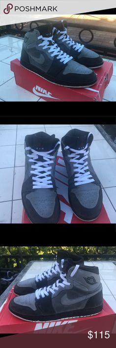 e3f34bb54200 Shop Men s Jordan Gray size Sneakers at a discounted price at Poshmark.  Description  Air Jordan 1 Retro High Stealth Team Red Light Graph size  Ships within ...