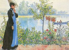 Karin on the Shore ~ Carl Larsson ~ (Swedish: 1853-1919)
