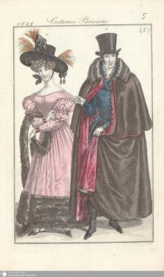 11 - (5.) Costumes Parisiens. - Petit courrier des dames - Seite - Digitale Sammlungen - Digitale Sammlungen