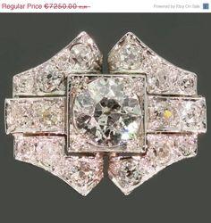 Vintage diamonds anniversary ring bow shape 18k white gold