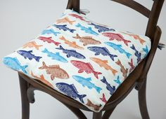 Capa de Almofada para Cadeira Peixes 40 x 40 cm | A Loja do Gato Preto | #alojadogatopreto | #shoponline