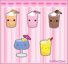 Kawaii Food | Kawaii Drink Designs by A-Little-Kitty