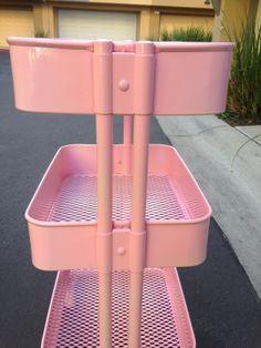 Jossie Posie: My DIY Candy Pink Raskog!