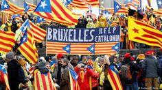 Belgien - Pro-Unabhänigkeitsdemonstration für Katalonien in Brüssel (Reuters/Y. Herman)