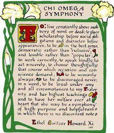 Chi Omega symphony:)