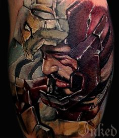 Iron Man by Mat Valles #InkedMagazine #superhero #ironman #tattoo #tattoos