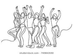Continuous Line Drawing Cheering Crowd Stock Vector (Royalty Free) 749843590 Minimalist Drawing, Minimalist Wallpaper, Minimal Drawings, Art Drawings, Line Art Projects, Black And White Doodle, Continuous Line Drawing, Object Drawing, Mirror Wall Stickers