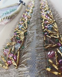 Tambour Beading, Tambour Embroidery, Couture Embroidery, Embroidery Fashion, Hand Embroidery Patterns, Embroidery On Clothes, Embroidery Dress, Ribbon Embroidery, Couture Embellishment