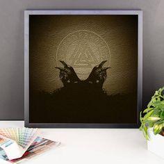 Vikings Odins Ravens Huginn and Muninn Framed photo paper