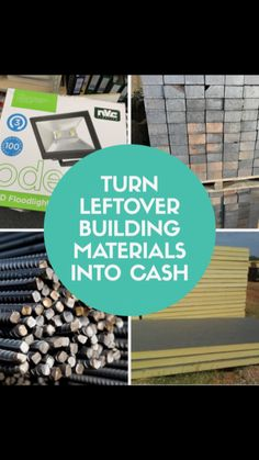 Buy and sell surplus building materials and start saving money today #reducewaste