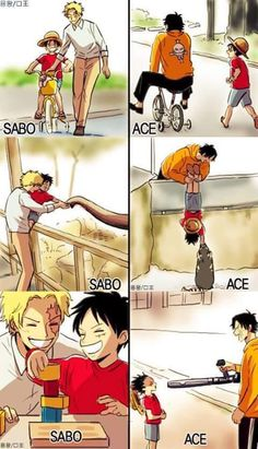 Sabo, Ace, Luffy, One Piece