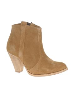 ASOS AGGIE Suede Pull On Casual Heel Ankle Boots $64.50