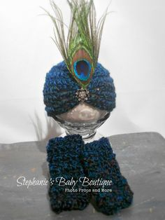 Crochet Newborn Baby Peacock Hat and by StephaniesPropShop on Etsy, $28.00