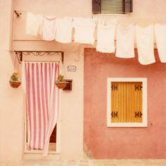 This print is from an original polaroid taken in the charming town of Burano in Italy.