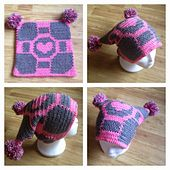 Ravelry: Companion Cube Square Hat pattern by Michelle Ribar