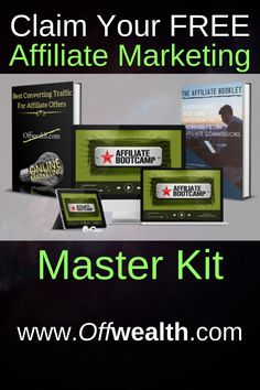 Get Your Affiliate Marketing Master Kit TODAY for FREE and take your affiliate business to the next level. Online Income, Earn Money Online, Online Jobs, Social Marketing, Affiliate Marketing, Online Marketing, How To Find Out, How To Make Money, How To Become