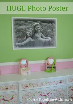Awesome DIY!  Huge photo print for under $5
