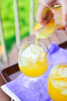 Mango Wine Coolers {Mangos, Sweet Reisling,  Vodka, & Pinch of Salt}