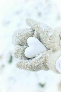 Heart-Shaped Snow Ball