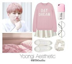 """""""Aesthetic: Yoongi"""" by btsoutfits ❤ liked on Polyvore featuring Retrò, Zoe Karssen, Yves Saint Laurent and Topshop"""