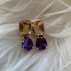 Shop the Look Amethyst, Gold, Abs, Drop Earrings, Shopping, Jewelry, Fashion, Romantic Gifts, Silver