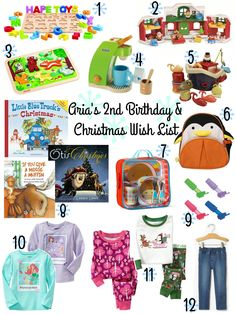 2nd Birthday & Christmas Wish List - Toddler Gifts, Need Read Want Wear Christmas Gift Ideas!