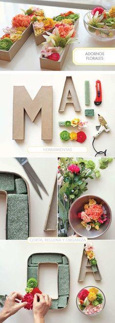 ¿Quieres decorar tu cuarto de una manera original? ¡apuesta por las letras con relieve! Hoy no solo os damos ideas sino que os contamos cómo hacerlas.