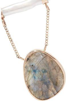 Melissa Joy Manning - 14-karat Gold, Sterling Silver, Pearl And Labradorite Necklace - one size