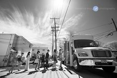 I love this photo our wedding photographer, Hendrick Moy, took of another wedding party boarding their shuttle bus!