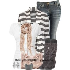 Love that cardigan, created by cindycook10 on Polyvore