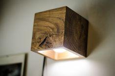 wall lamp wooden CUBE#18 handmade. wall light. sconce. wood lamp. wooden lamp. minimalist light. natural. light oak wall lamp.