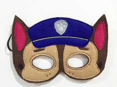 Paw patrol mask IN The Hoop embroidery design Instant Download