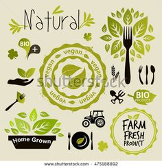Vegan icon set vector  abstract, badge, bio, certified, cooking, design, diet, dinner, eco, emblem, farm, food, fork, fresh, go, gogreen, graphic, green, grow, health, healthy, home, icon, illustration, isolated, knife, label, leaf, lifestyle, logo, meal, menu, natural, nature, nutrition, organic, product, restaurant, rubber, set, sign, spoon, stamp, sticker, symbol, tractor, vector, vegan, vegetable, vegetarian