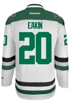 Dallas Stars Cody EAKIN  20 Official Away Reebok Premier Replica Adult NHL  Hocke CoolHockey 33cb2060d