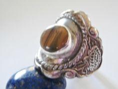 Tigers eye ring. One of a kind design. Patterns by SuloJewellery.  www.etsy.com/SuloJewellery