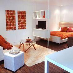 Tiny Studio Apartment Design Ideas, Pictures, Remodel, and Decor