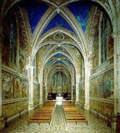 St. Francis of Assisi - interior-of-basilica