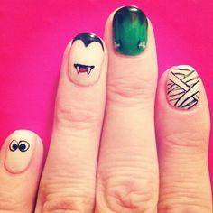 Cute Halloween nails :3