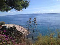Croazia mare,visto dall'alto una foto al quanto difficile visto che stavamo in bilico su una montagna