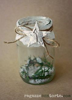 Porta-candela natalizio.  Tante idee (commestibili e non) per il tuo Natale fai-da-te sul nostro blog: www.ragazzecontorte.com!!
