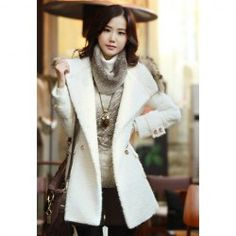 $21.33 Casual Hot Sale Style Hooded Long Sleeves Solid Color Imitated Fur Embellished Thicken Coat For Women