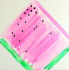 "Violet Tinder ""Watercolor Watermelon"" Art Print"
